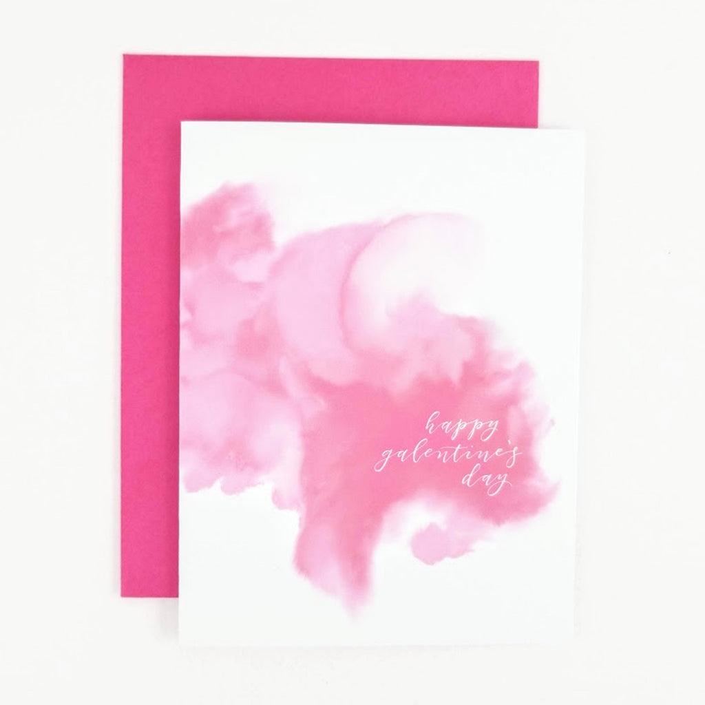 Happy Galentine's Day Watercolor greeting card.