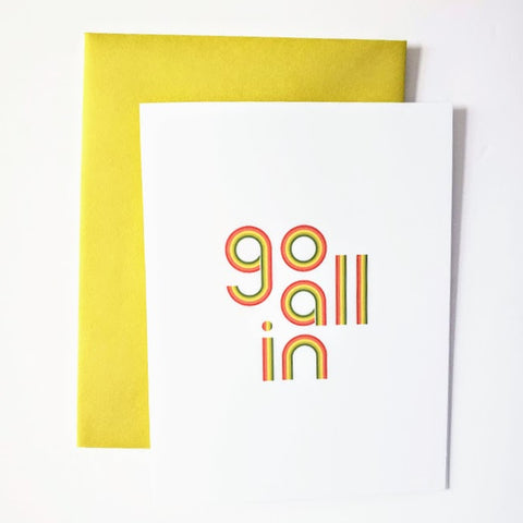 Go All In greeting card
