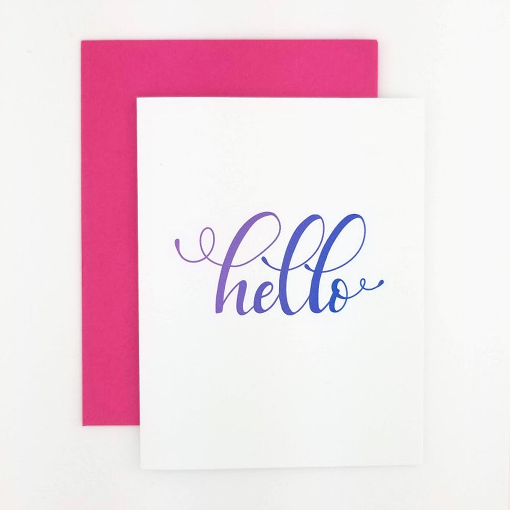Happy Mail Calligraphy Hello