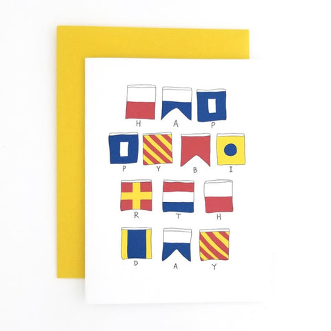 Happy Mail Nautical Flag Birthday