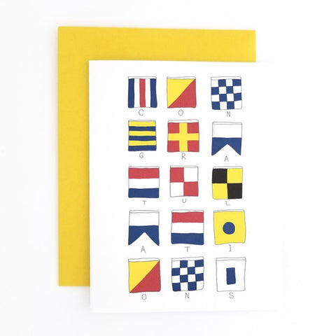 Happy Mail Nautical Flag Congratulations