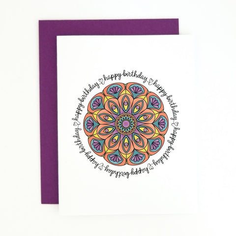 Happy Mail Mandala Birthday
