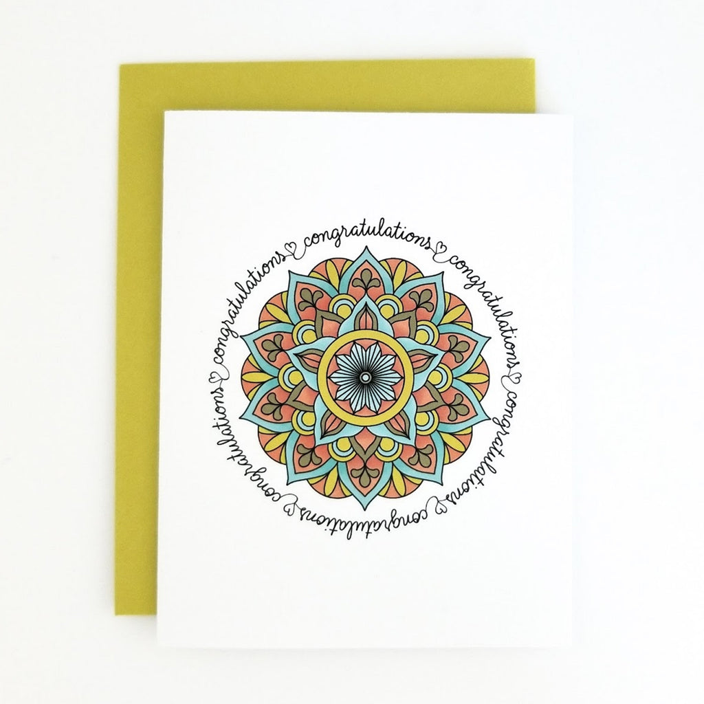 Happy Mail Mandala Congratulations