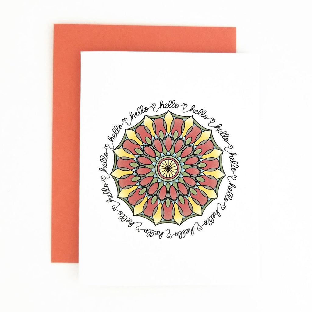 Happy Mail Mandala Hello