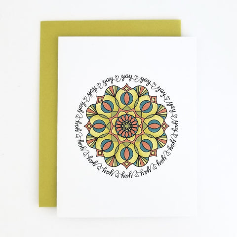 Happy Mail Mandala Yay