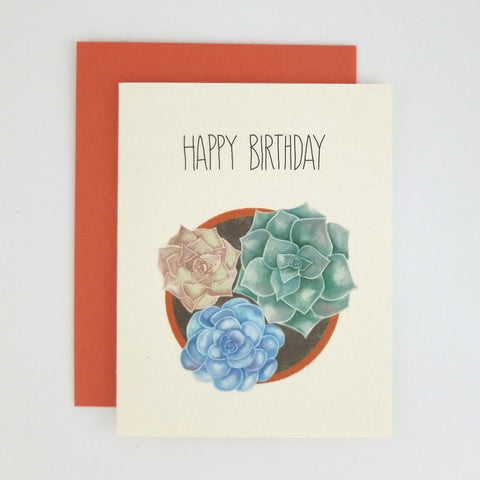 Happy Mail Succulent Birthday