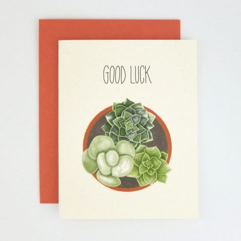 Happy Mail Succulent Good Luck