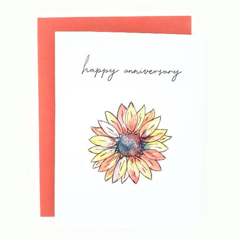 Autumn Happy Mail Anniversary Card