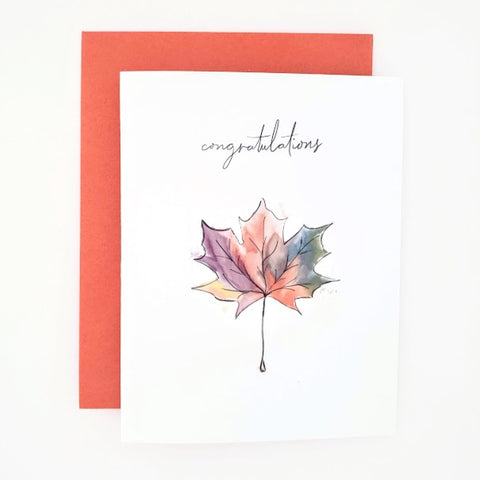 Autumn Happy Mail Congratulations Card