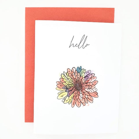Autumn Happy Mail Hello Card