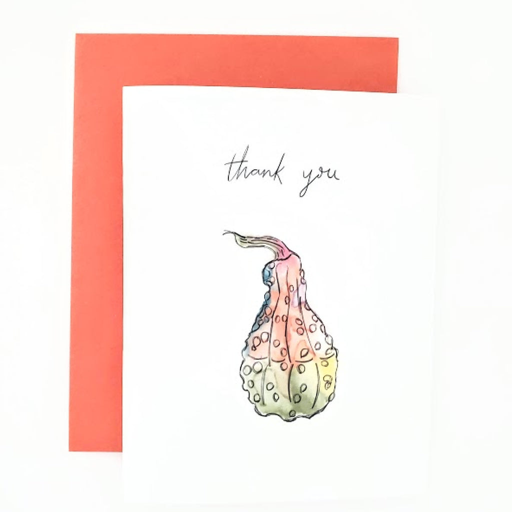 Autumn Happy Mail Thank You Card