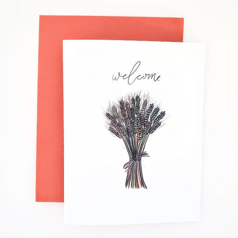 Autumn Happy Mail Welcome Card