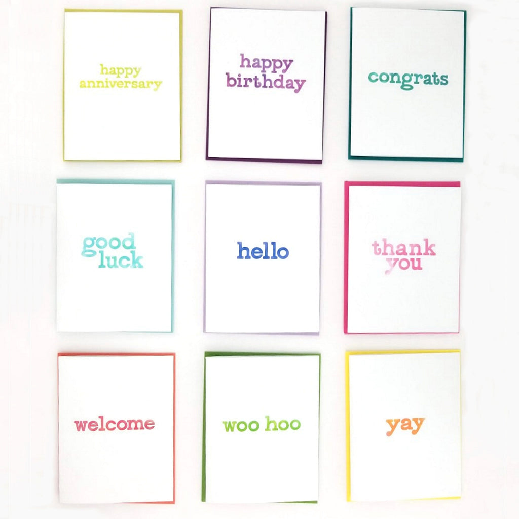 Happy Mail Lowercase Greeting Card Collection