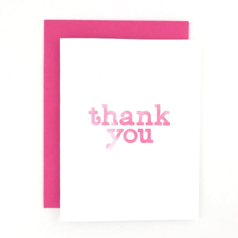 Happy Mail Thank You Greeting Card with lowercase font in watercolor hand lettering.