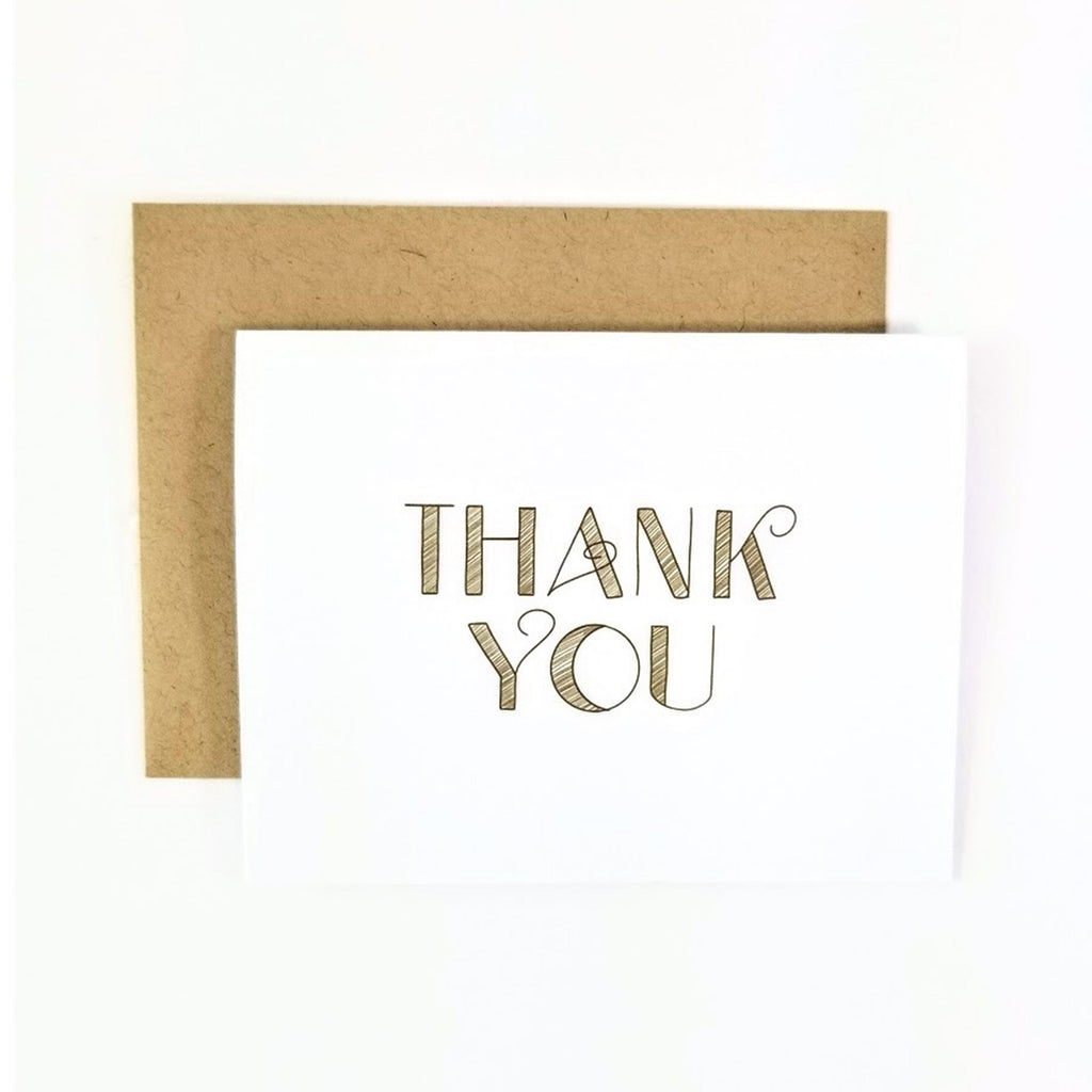 Happy Mail Retro  Style Hand Lettered Thank You Note