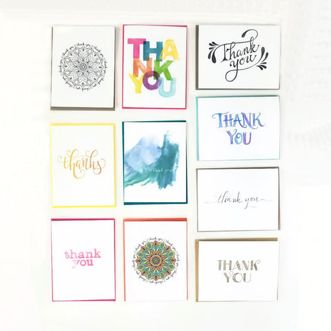 Happy Mail Thank You Greeting Card Collection with 10 different designs
