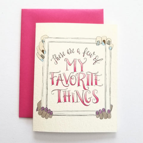 Lady boss tagged greeting card my heart beats my favorite things polish m4hsunfo