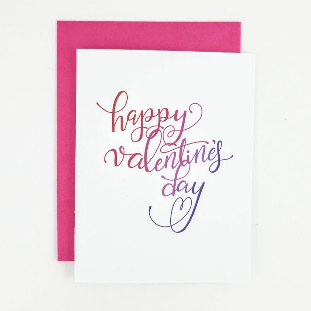 Happy Valentine's Day Calligraphy Greeting Card