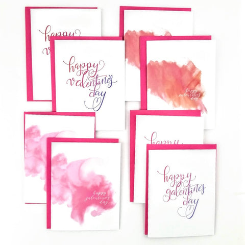 Happy Mail Valentine's Collection. A set of 8 cards.