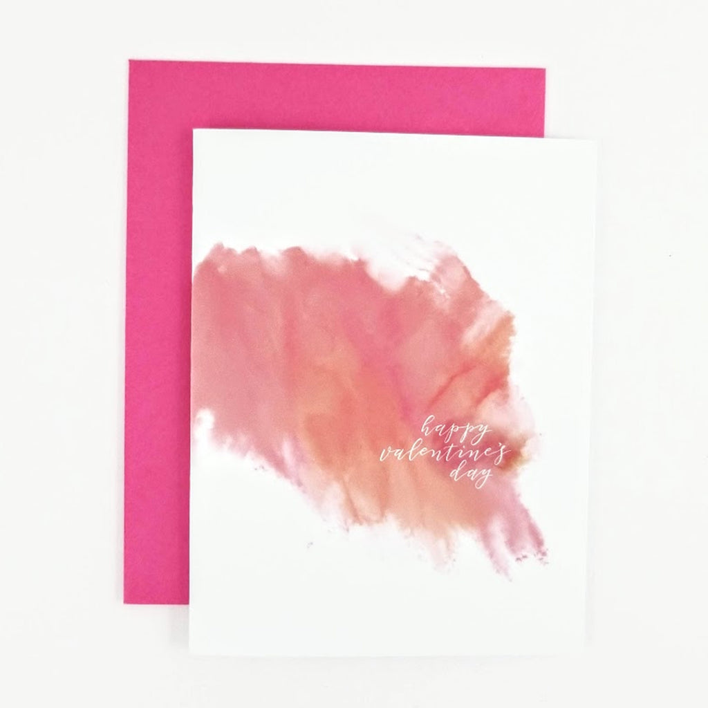 Happy Valentine's Day Watercolor Greeting Card