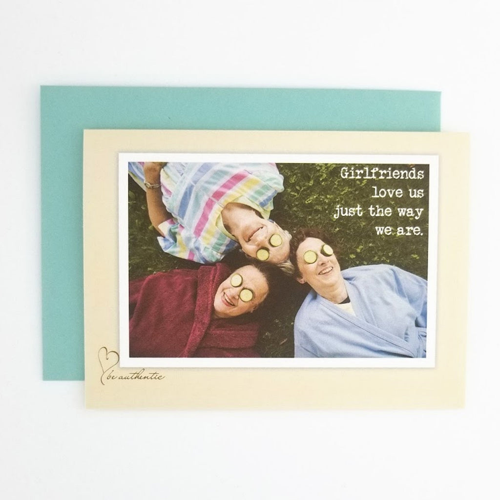 My Heart Beats We are Girlfriends greeting card. Send to your girlfriends to connect and celebrate friendship.