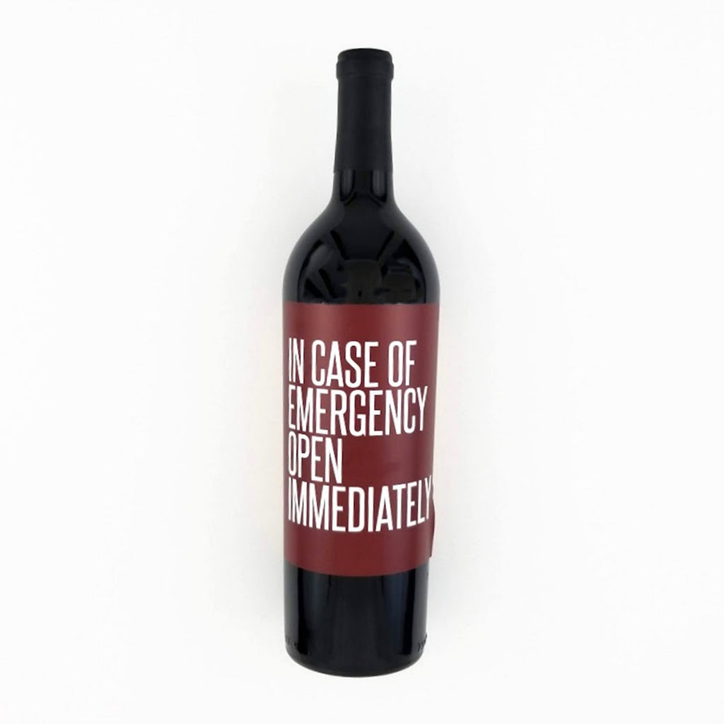 In Case of Emergency Wine Label