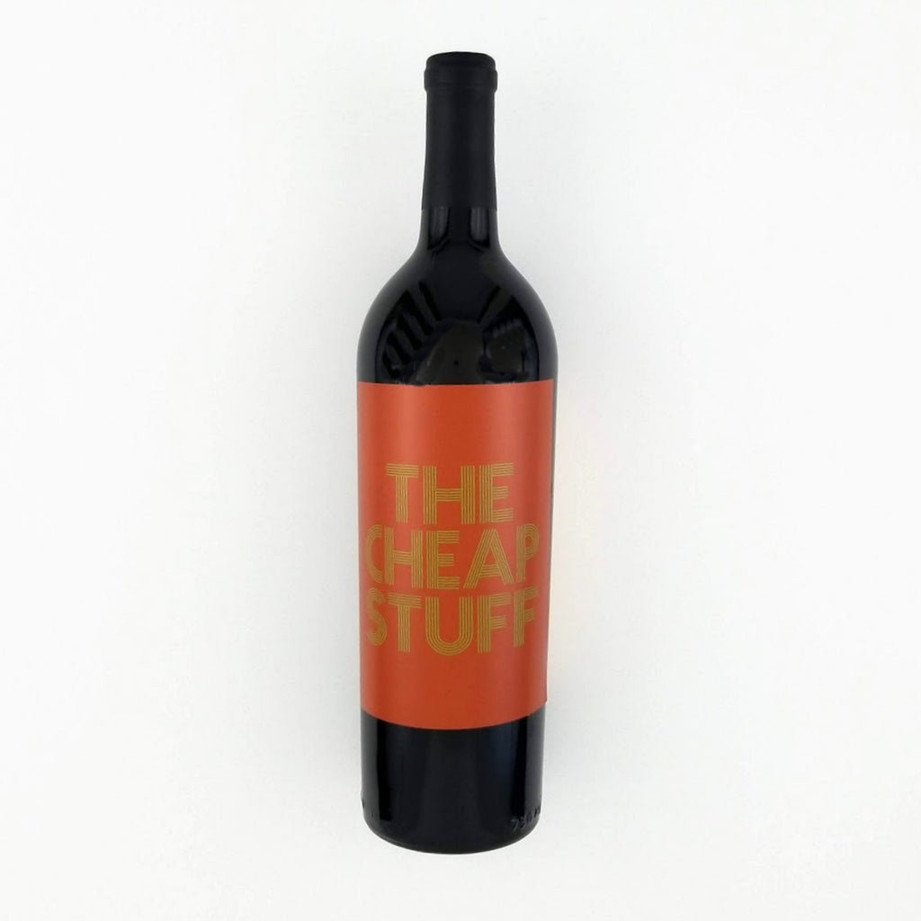 The Cheap Stuff Wine Bottle Label