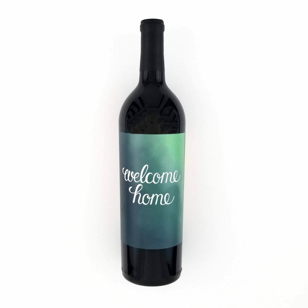 Welcome Home Wine Bottle Label