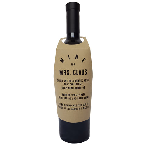 Wine for Mrs. Claus wine bottle wrap