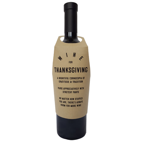 Wine for Thanksgiving wine bottle wrap