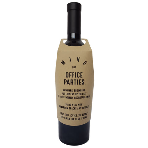 Wine for Office Parties wine bottle wrap
