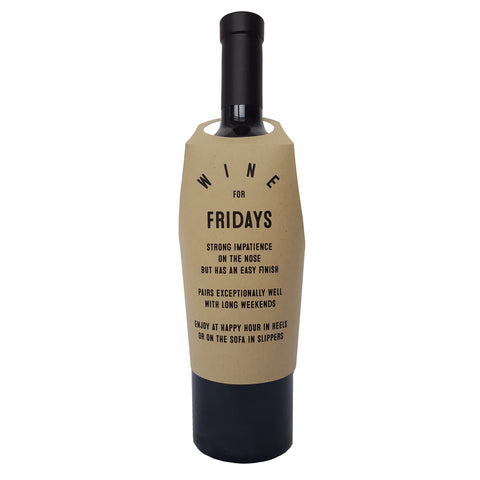 Wine for Fridays wine bottle wrap