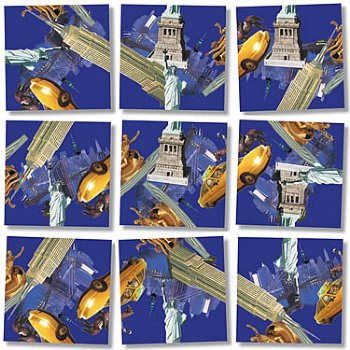 B'Dazzle Scramble Squares Brain Teaser Puzzle - New York, New York