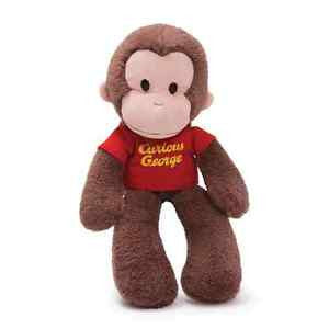 "Gund Plush Curious George Take Along Buddy 15"" #4030391"