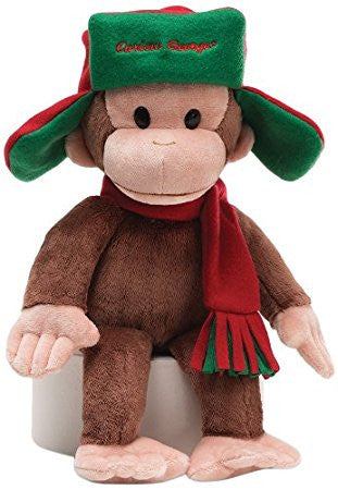 "Gund Plush Curious George w/Fargo Hat 14"" #4038198"