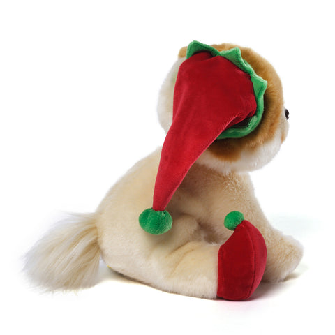 "GUND Plush Christmas ""BOO"" Elf The World's Cutest Dog  8"" #4038704"