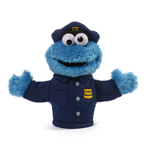 "Gund Sesame Street Plush Cookie Monster Policeman  Puppet 14"" #4053889"