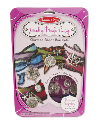 Melissa and Doug Jewelry Made Easy Charm Ribbon Bracelets #9470