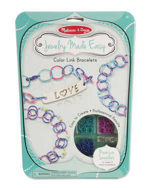Melissa and Doug Jewelry Made Easy Color Link Bracelets #9472