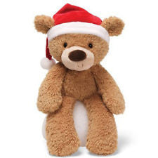 "Gund Plush Fuzzy Christmas Teddy Bear 13.5"" 4029209"