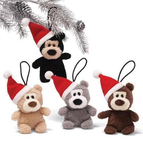 Gund Holiday Ornaments Itty Bitty Bears Set of 4 #4029233