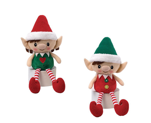 "Gund Holiday Peppermint Elves Doll 14"" #320304"