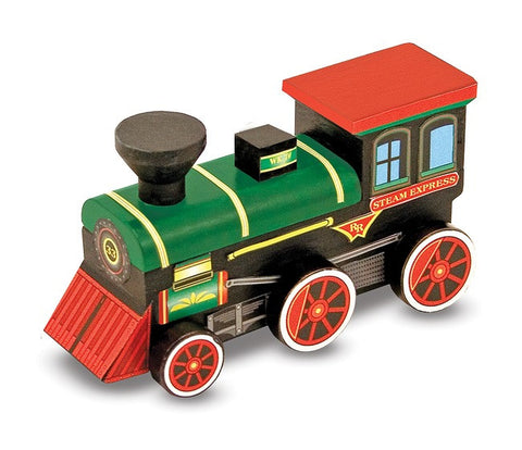 Melissa and Doug Decorate Your Own  Wooden Train Kit