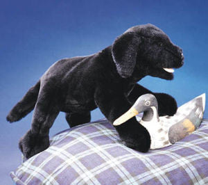 Folkmanis Plush Black Lab  Hand Puppet