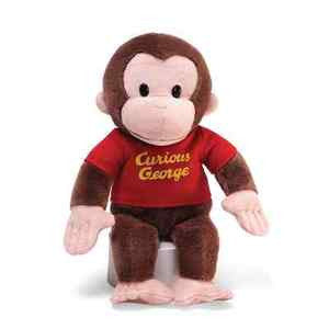 GUND Curious George in red Shirt - 12""