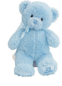 GUND Baby My First Teddy Plush Teddy Bear Blue  - 10""