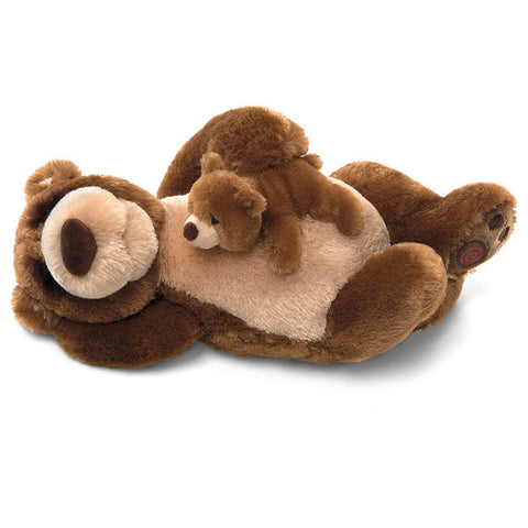 GUND Snoring Papa and Little Bear  Interactive Plush  - 15""