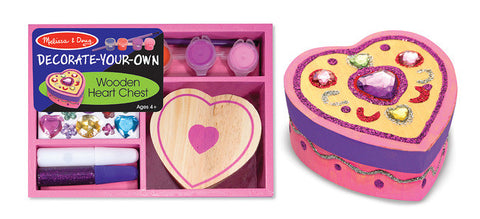 Melissa and Doug Decorate Your Own  Wooden  Heart Box