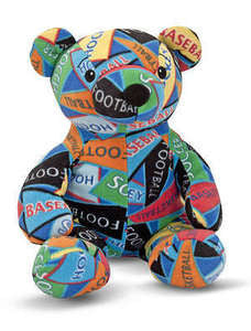 Beeposh Zach Sports Teddy Bear   Stuffed Animal Toy by Melissa and Doug -- #7275