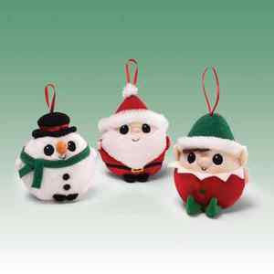 "GUND Plush Jeepers Peepers Ornaments (Set of 3)  - 4"" - NWT - #4028764"